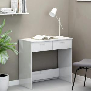 Birou, alb extralucios, 80 x 40 x 75 cm, PAL - V801361V