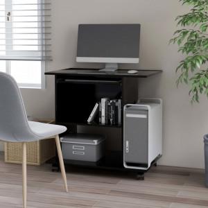Birou de calculator, negru, 80 x 50 x 75 cm, PAL - V802895V