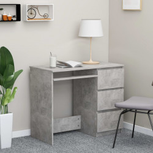 Birou, gri beton, 90 x 45 x 76 cm, PAL - V801377V