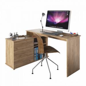 Birou PC universal de colţ, stejar artisan, TERINO