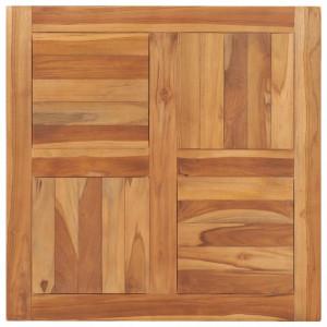 Blat de masa, 70 x 70 x 2,5 cm, lemn masiv de tec - V48989V