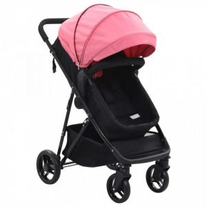 Carut/landou pentru copii 2-in-1, roz si negru, otel - V10162V