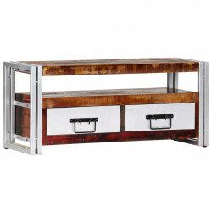 Comoda TV, 90 x 30 x 40 cm, lemn masiv reciclat - V247819V