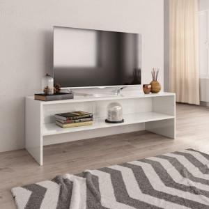 Comoda TV, alb foarte lucios, 120 x 40 x 40 cm, PAL - V800042V