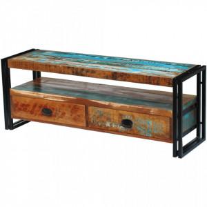 Comoda TV din lemn reciclat de esenta tare - V243275V
