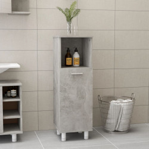 Dulap de baie, gri beton, 30 x 30 x 95 cm, PAL - V802619V