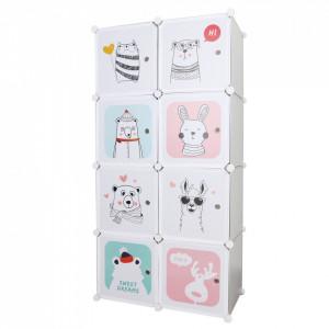Dulap modular pentru copii, gri / model pentru copii, ATREY