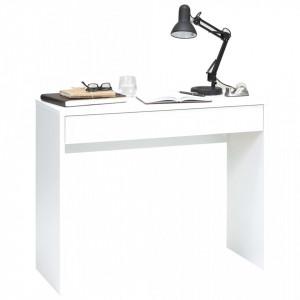 FMD Birou cu sertar lat, alb, 100 x 40 x 80 cm - V428711V
