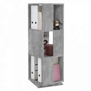 FMD Dulap rotativ de dosare deschis, gri beton, 34x34x108 cm - V428795V