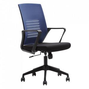 Fotoliu de birou, albastru închis/negru, DIXOR