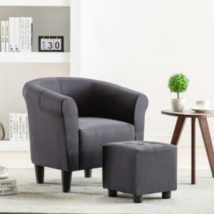 Fotoliu, negru, material textil - V248030V