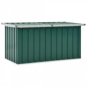 Lada de depozitare pentru gradina, verde, 129 x 67 x 65 cm - V46261V