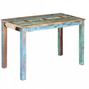Masa bucatarie din lemn masiv reciclat, 115x60x76 cm - V243451V