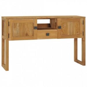 Masa consola, 120 x 32 x 75 cm, lemn masiv de tec - V288844V