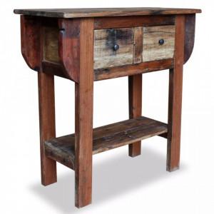 Masa consola, lemn reciclat de esenta tare, 80x35x80 cm - V244509V