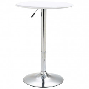 Masa de bar, alb, Ø60 cm, MDF - V249669V