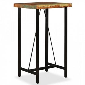 Masa de bar, lemn masiv reciclat, 60 x 60 x 107 cm - V245439V