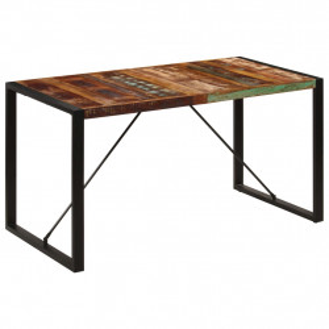 Masa de bucatarie, 140x70x75 cm, lemn masiv reciclat - V247421V