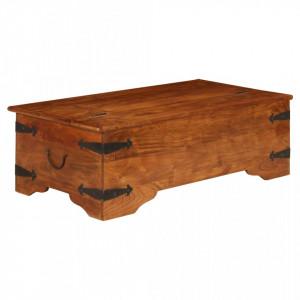 Masa de cafea 110x55x35 cm, lemn masiv acacia, finisaj sheesham - V245654V