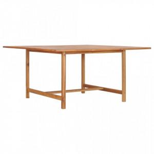 Masa de gradina, 150 x 150 x 76 cm, lemn masiv de tec - V49008V
