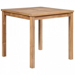 Masa de gradina, 80 x 80 x 77 cm, lemn masiv de tec - V44996V