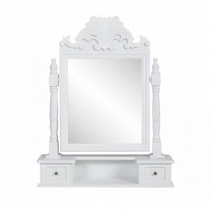 Masa de machiaj cu oglinda mobila dreptunghiulara, MDF - V60628V