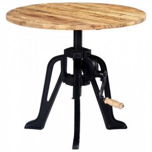 Masa laterala, 60 x (46-63) cm, lemn masiv de mango si fonta - V247915V