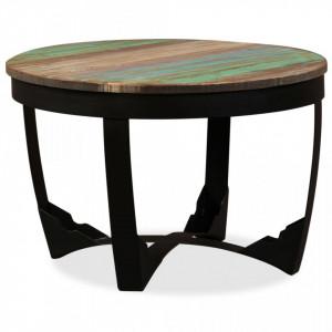 Masa laterala, lemn masiv reciclat, 60 x 40 cm - V244672V