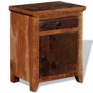 Noptiera din lemn masiv de acacia si lemn reciclat - V243968V