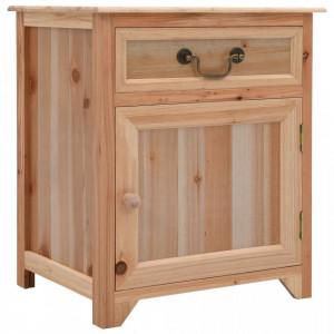 Noptiera, maro, 40x30x50 cm, lemn de paulownia - V249831V