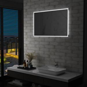 Oglinda cu LED de perete de baie cu senzor tactil, 100 x 60 cm - V144737V