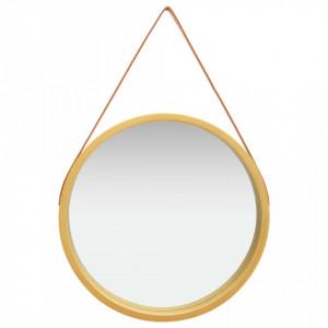 Oglinda de perete cu o curea, 60 cm, auriu - V320369V