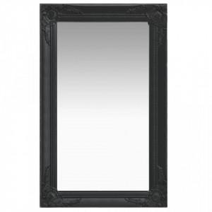 Oglinda de perete in stil baroc, negru, 50 x 80 cm - V320323V