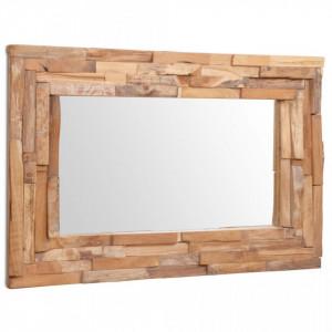 Oglinda decorativa din lemn de tec, 90 x 60 cm, dreptunghiular - V244563V
