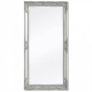 Oglinda verticala in stil baroc 120 x 60 cm argintiu - V243685V