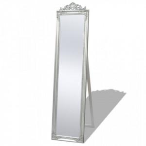 Oglinda verticala in stil baroc 160 x 40 cm argintiu - V243693V