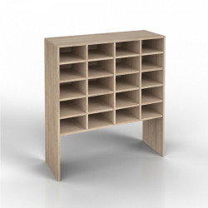 OSRA1 - Rafturi hol 92 cm, birou, biblioteca, living - Alb, Sonoma, Beton