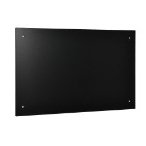 Panou de perete bucatarie - protectie impotriva petelor de grasime Schwarz, ESG, 90 x 50 cm, negru - P53234673