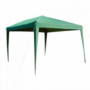 Pavilion de grădină pliabil, verde, 2x2 m, TREKAN TIP 1