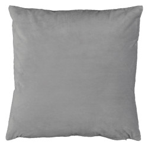 Pernă, material textil de catifea gri deschis, 45x45, ALITA TIPUL 12