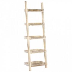 Raft tip scara, alb, 75 x 37 x 205 cm, lemn masiv de mango - V247872V