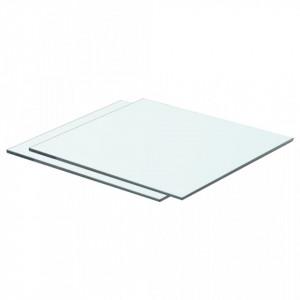 Rafturi, 2 buc., 40 x 30 cm, panouri sticla transparenta - V3051556V