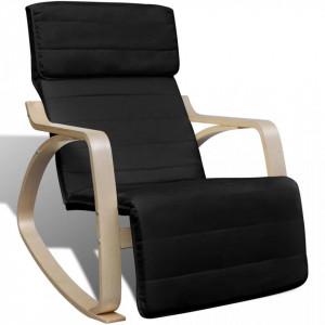 Scaun balansoar, negru, lemn curbat si material textil - V241435V