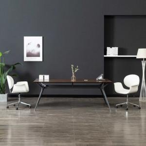 Scaun de birou rotativ, alb, piele ecologica - V3054825V