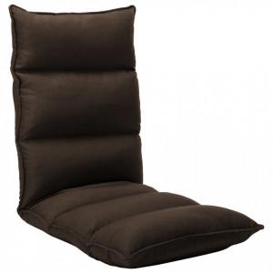 Scaun de podea pliabil, maro, material textil - V325238V