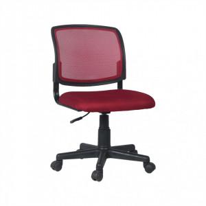 Scaun rotativ, roşu închis/negru, RAMIZA