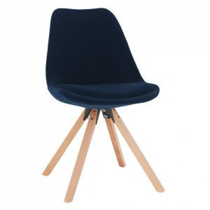 Scaun, ţesătură albastră din catifea / fag, SABRA