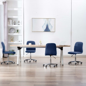 Scaune de bucatarie, 4 buc., albastru, material textil - V3056534V