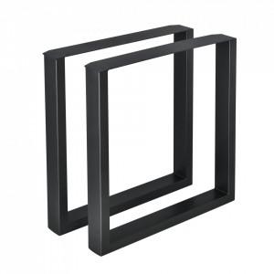 Set 2 bucati picioare masa/mobilier Model 1, 70 x 72 cm, metal, negru - P57353518