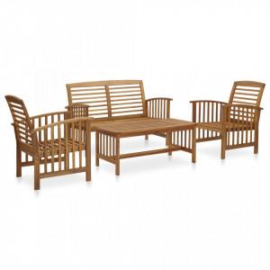 Set mobilier de gradina, 4 piese, lemn masiv de acacia - V3057971V
